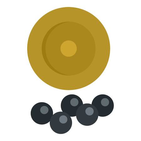 Cartridge balls icon, flat style Иллюстрация