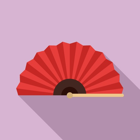 Elegance hand fan icon. Flat illustration of elegance hand fan vector icon for web design