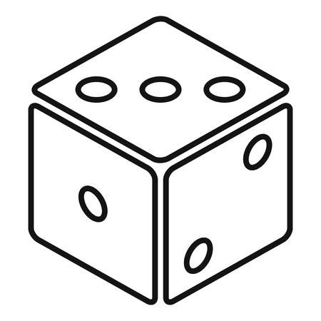 Small dice icon. Outline small dice vector icon for web design isolated on white background Vektorové ilustrace