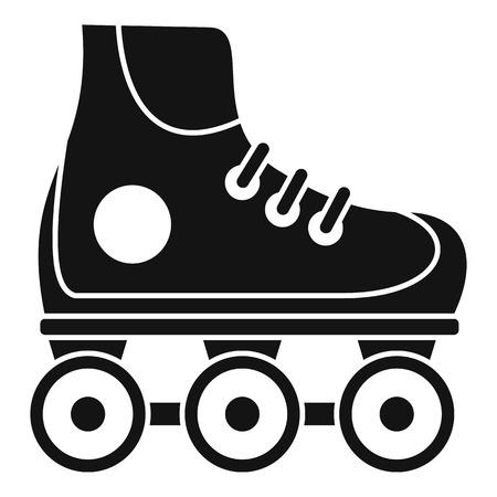Kid inline skates icon. Simple illustration of kid inline skates vector icon for web design isolated on white background Vector Illustratie