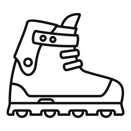 Small wheel inline skates icon. Outline small wheel inline skates vector icon for web design isolated on white background Иллюстрация