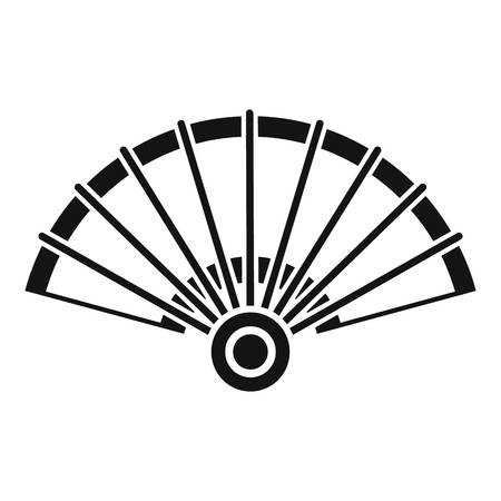 Open hand fan icon. Simple illustration of open hand fan vector icon for web design isolated on white background Stock Illustratie