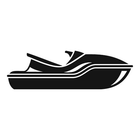 Sea jet ski icon, simple style
