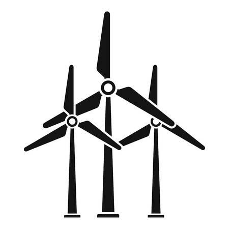 Development wind turbine icon, simple style