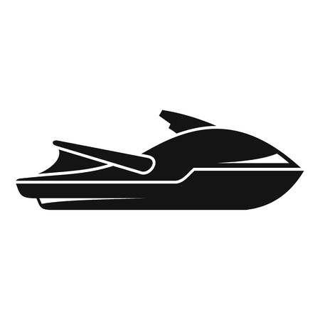 Sport jet ski icon, simple style