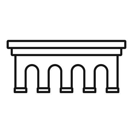 Beton bridge icon, outline style