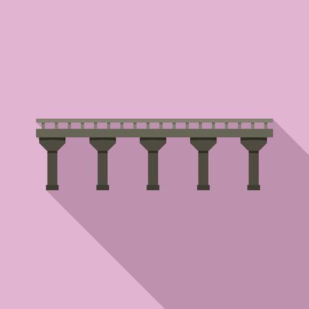 Auto bridge icon. Flat illustration of auto bridge vector icon for web design
