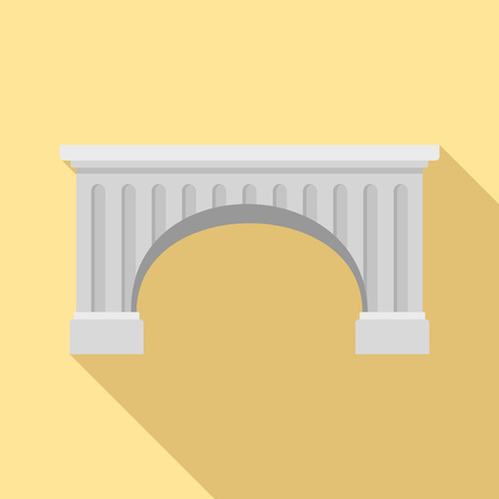 Ancient bridge icon. Flat illustration of ancient bridge vector icon for web design Stock Illustratie