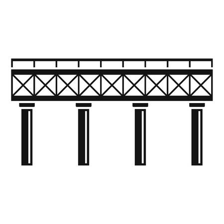 Railroad bridge icon. Simple illustration of railroad bridge vector icon for web design isolated on white background