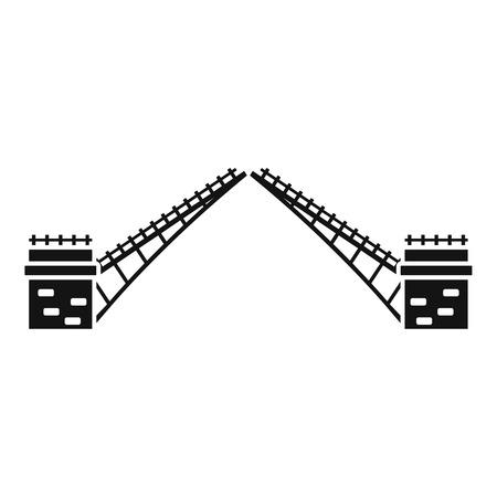 Swing bridge icon. Simple illustration of swing bridge vector icon for web design isolated on white background