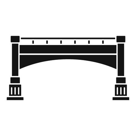 Small bridge icon, simple style
