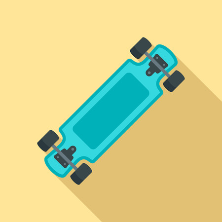 Fashion new skateboard icon. Flat illustration of fashion new skateboard vector icon for web design
