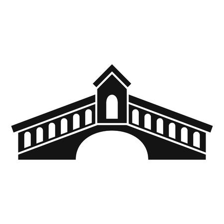 Architecture bridge icon. Simple illustration of architecture bridge vector icon for web design isolated on white background