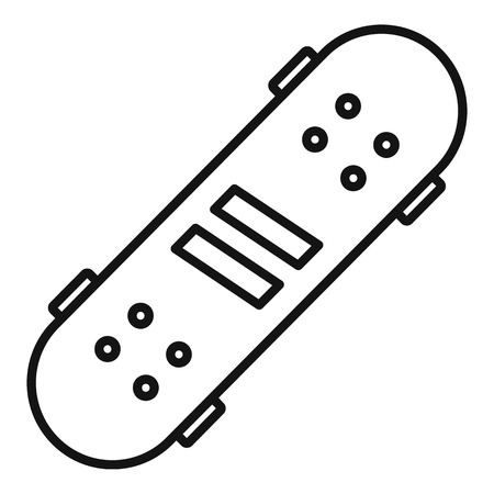 Recreation skateboard icon, outline style 向量圖像