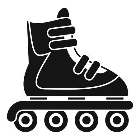 Inline skates icon. Simple illustration of inline skates vector icon for web design isolated on white background