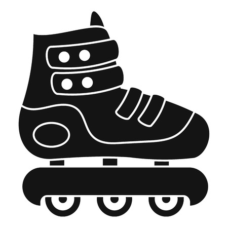 Protected inline skates icon, simple style