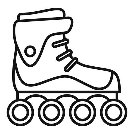 Freestyle inline skates icon, outline style