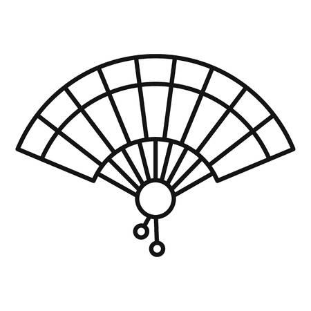 Wind hand fan icon, outline style