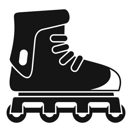Glide inline skates icon, simple style