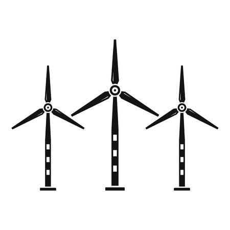 Eco wind turbine icon, simple style Ilustrace