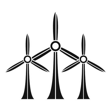 Eco energy wind turbine icon, simple style