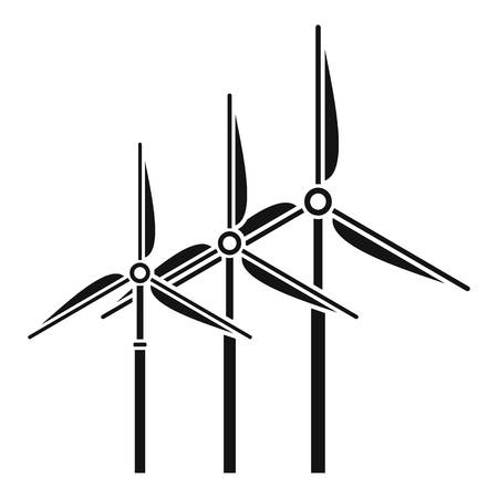 Tower wind turbine icon, simple style