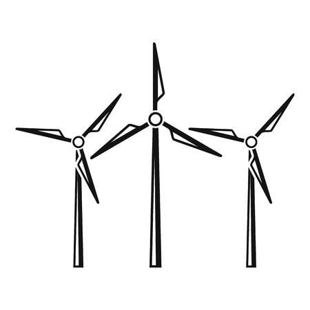 Innovation power turbine icon, simple style