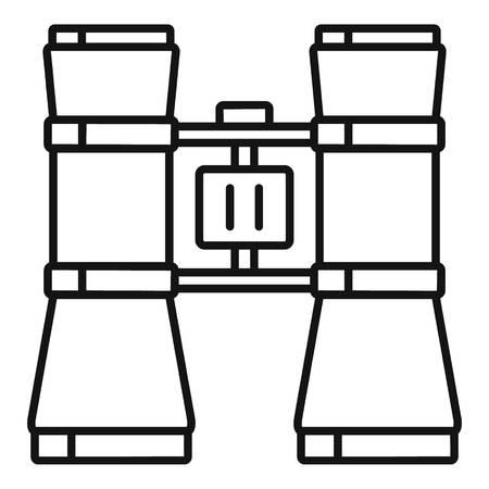 Icône de jumelles de théâtre, style de contour