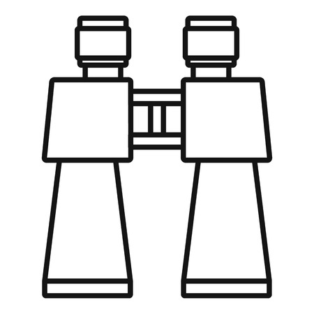 Binocular toy icon. Outline binocular toy vector icon for web design isolated on white background