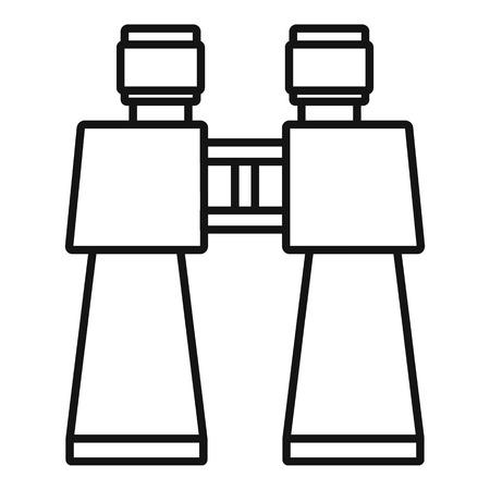 Icône de jouet binoculaire. Contours jouet binoculaire icône vecteur pour la conception web isolé sur fond blanc Vecteurs