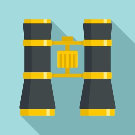 Theatre binocular icon, flat style Stock Illustratie