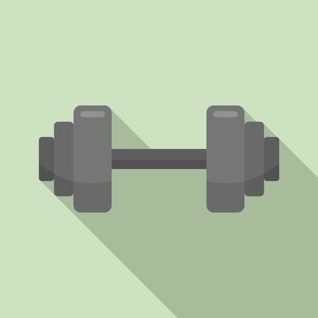 Fitness barbell icon. Flat illustration of fitness barbell vector icon for web design 写真素材 - 123434192