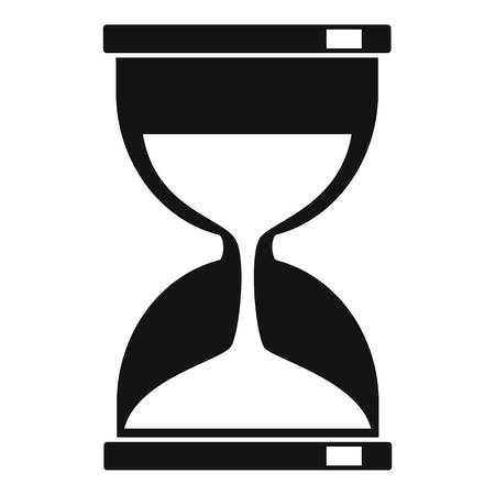 Magic hourglass icon, simple style Illustration