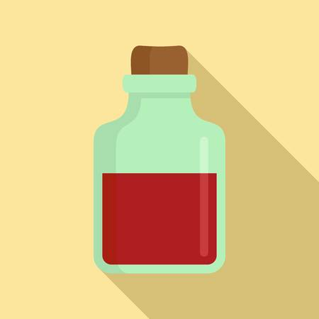 Magic blood flask icon. Flat illustration of magic blood flask vector icon for web design