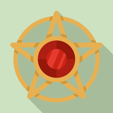 Magic star symbol icon, flat style Illustration