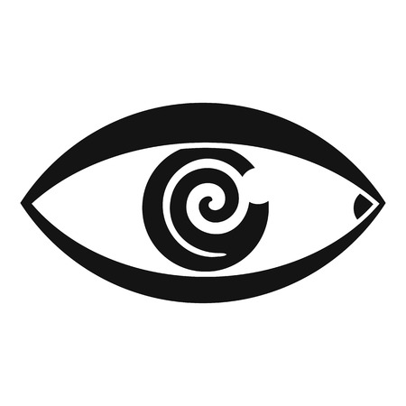 Magic eye hypnosis icon, simple style Illustration