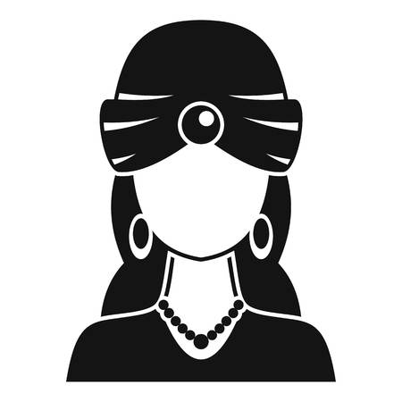 Woman fortune teller icon. Simple illustration of woman fortune teller vector icon for web design isolated on white background Illustration