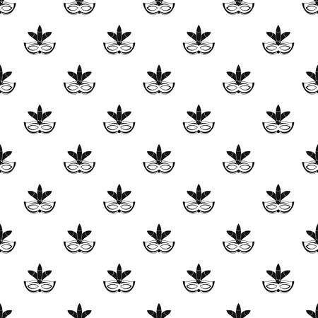Carnival mask pattern seamless vector repeat geometric for any web design