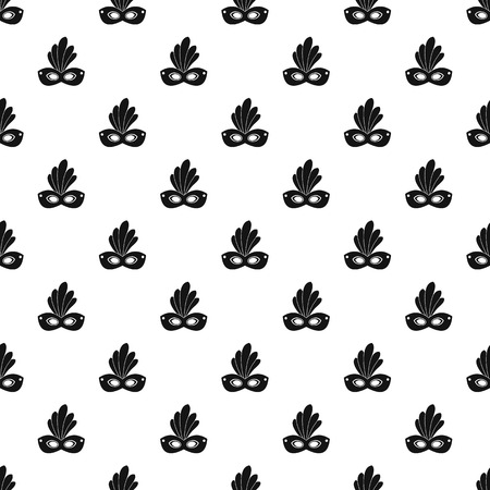 Brazil carnival mask pattern seamless vector repeat geometric for any web design