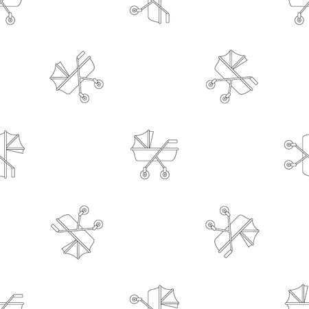 Nouveau motif de landau vectoriel continu pour répéter géométrique pour tout web design