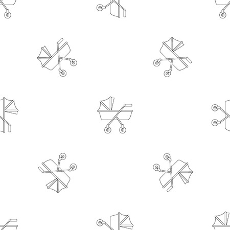 New baby carriage pattern seamless vector repeat geometric for any web design
