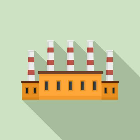 Refinery oil factory icon. Flat illustration of refinery oil factory vector icon for web design Vetores