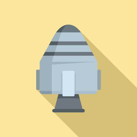 Space rocket capsule icon. Flat illustration of space rocket capsule vector icon for web design
