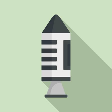 Spaceship icon. Flat illustration of spaceship vector icon for web design