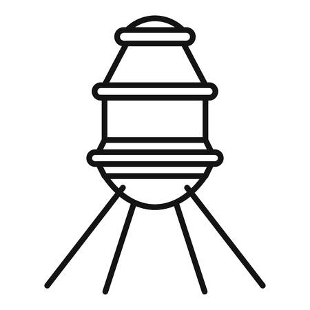 Small space capsule icon. Outline small space capsule vector icon for web design isolated on white background