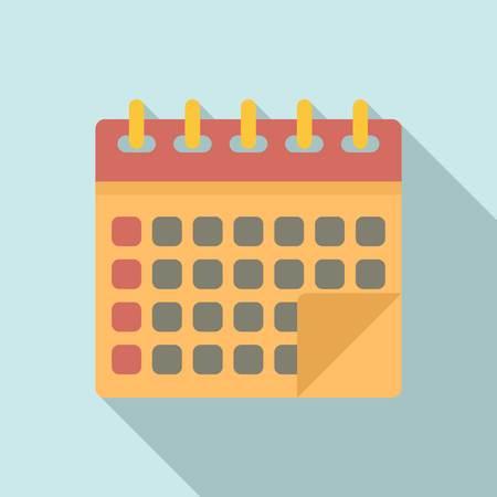 Management calendar icon. Flat illustration of management calendar vector icon for web design Vector Illustration