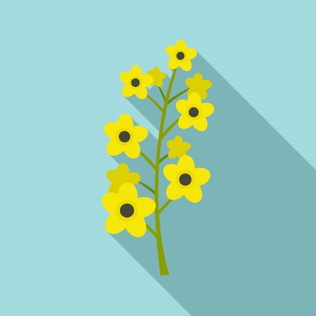 Rape plant icon. Flat illustration of rape plant vector icon for web design