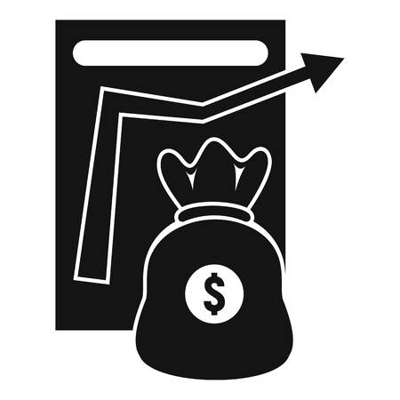 Money bag management icon. Simple illustration of money bag management vector icon for web design isolated on white background Illusztráció