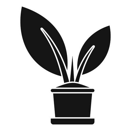 Bio plant pot icon, simple style
