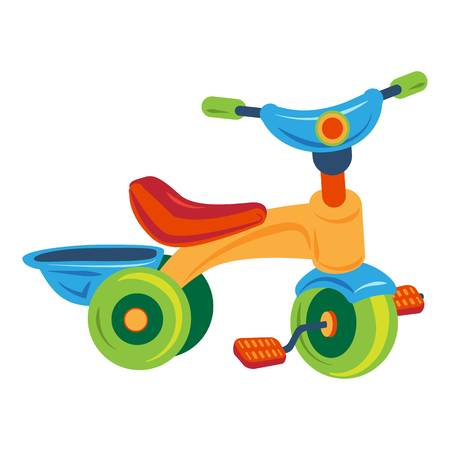 Tricycle icon, cartoon style